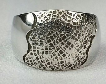 Sterling Silver wide band size 8, Tapered band-ready to ship. contemporary wide band.. Dinner ring.