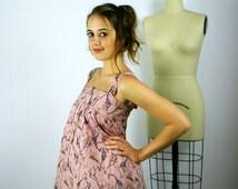 Pink Giraffe Print Sundress, Summer Dress, Print Dress, Tunic Dress, Tunic, Pink Dress, Pink Tunic, Pink Mini Dress, Mini Dress