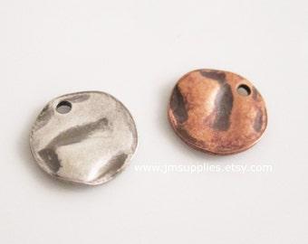Drop, 10mm Textured Flat Round