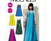 Tent Dress Sewing Pattern - Womens Dress Pattern - McCalls 6555 - M6555 Pattern - Uncut, Factory Folded