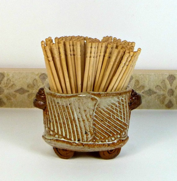 Toothpick holder toothpick cup handmade gift man by flyingpignc - Toothpick holder for purse ...