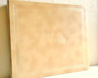 Huge Family Album for Pictures Photo Album Tan with Gold Large Scrap Book for Photographs