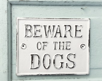Beware of Dog Sign, Metal Dog Sign Dog Lover, Gift for Mom, Anthyle, Iron Wall Decor