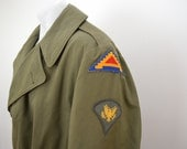 sale Vintage U.S. ARMY overcoat OD-7 wool liner dated 1946 large 7th Army europe
