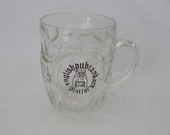 Vintage ENGLISH PUB Tankard Pint Jar Beer glass bulldog