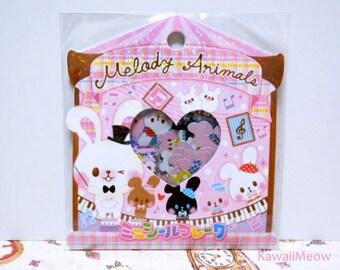 CRUX Sticker Flakes - Melody Animals Rabbit - 52 Pieces (05204)