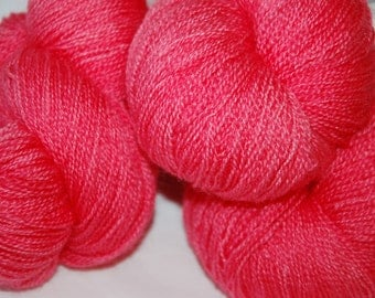 Studio June Yarn Silky Blue Lace (Silk/BFL) -  Coraly Pink