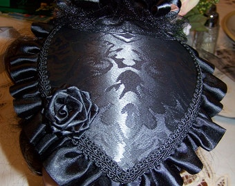 Ladies Civil War Hat Victorian with matching reticule,Black teardrop with Black Satin ruffle costume