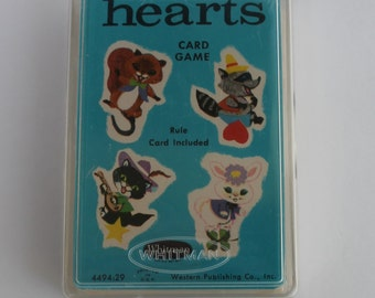 Vintage HEARTS Playing Cards Whitman Unopened package!