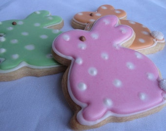 BIG EASTER BUNNY Sugar Cookies, Set of 2