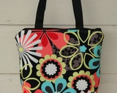 Reserved Listing Flower Shower Fully Insulated Lunch Tote Bag- Wet Bag Eco- Friendly and Washable