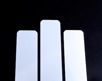"""6  - Blanks 1.25"""" x 6"""" White Sublimation 18 Gauge Bracelet Blank with Protective PVC Coating - 3003 Aluminum FLAT"""