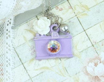 Photography Necklace Shabby Chic Jewelry Camera Necklace Photographer Jewelry Camera Jewelry