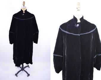 1940s coat vintage 40s black velvet evening opera coat