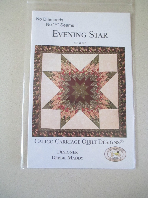 Evening Star Quilt Pattern - Calico Carriage Quilt Design - Fat ... : calico carriage quilt designs - Adamdwight.com