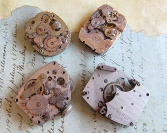 Vintage Antique Watch movements Steampunk - Scrapbooking d39