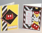 Mickey Mouse Happy Birthday cards (2)