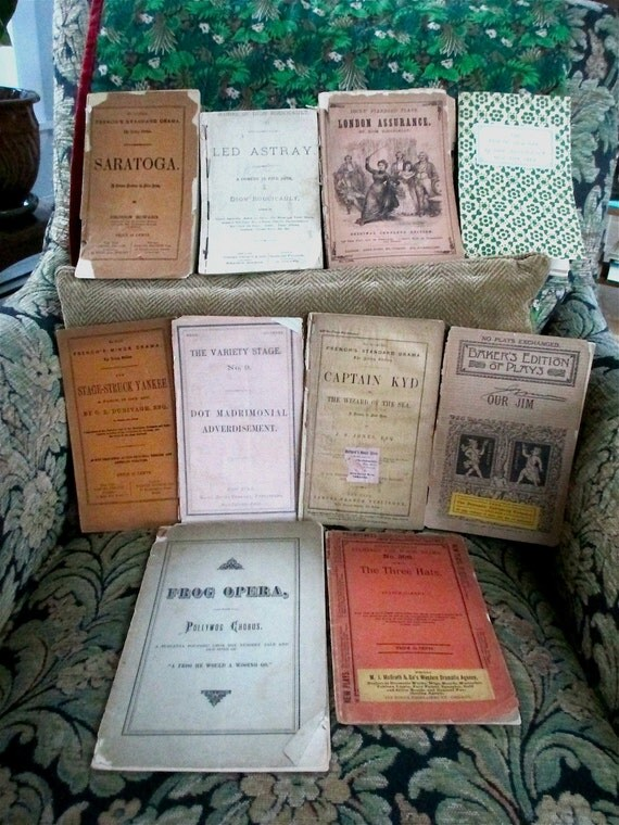 Acting editions of ten 19th century American plays, some historically important, some not.