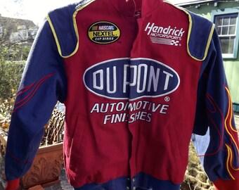 Vintage NASCAR Jeff Gordon 24  DUPONT Kids Jacket Hendrick Motorsports