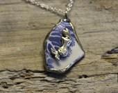 English Sea Glass Pottery Mermaid Necklace