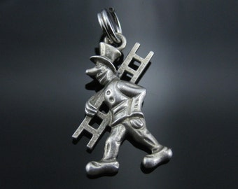 Vintage Sterling Silver Chimney Sweep Man Carrying Latter Charm
