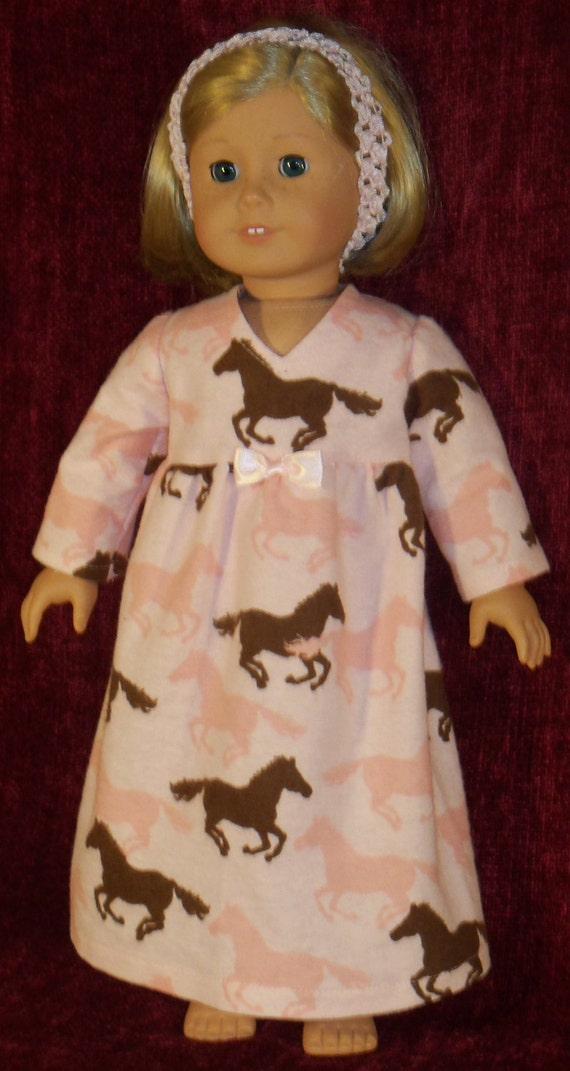 18 inch Doll Pink Horse Nightgown