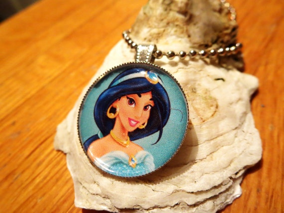 Jasmine Princess Jasmine Jasmine Necklace Diseny Jewely, Girls Necklace Disney Fan