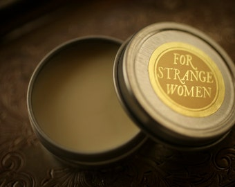 Perfume Enhancing Fixative Base™ - beeswax balm, salve to wear under natural perfume oil - For Strange Women original product
