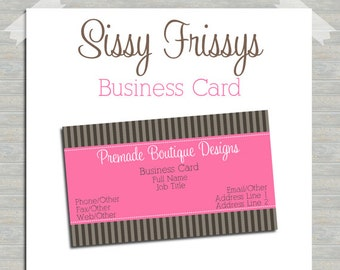 Business Card - Digital File - Business Card File - Earring Card - Jewelry Card - Hang Tag - Mom Card - Play Date Card - 212283209