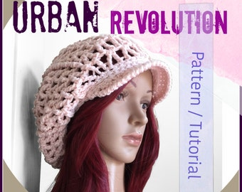 Photo Tutorial - The URBAN REVOLUTION Rasta Slouch Hat - Crocheted Hat - Permission to Sell