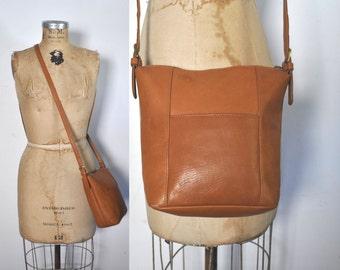 Leather Purse Bag Handbag / rich honey brown