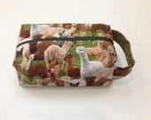 Square project bag for Alpaca Lovers