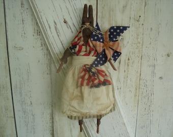 Betsy Bunny Americana Rabbit, Americana, Rabbit, Bunny, Patriotic, 4th July, Summer, Ofg, Faap, Hafair, Dub