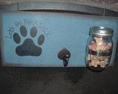 Mason Jar Dog Biscuits Leash Holder