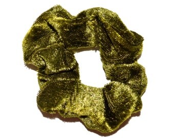 Velvet Scrunchie/ Olive green Velvet Scrunchie/ blue Scrunchie /Handmade Scrunchie /Gift Under 10