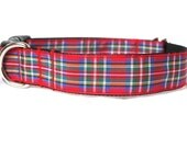 Scottish Stewart Tartan Large Dog Collar