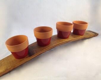 SUPER SALE!!! Barrel Stave Herb/Flower Pot