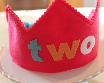TWO Girlie Birthday Crown