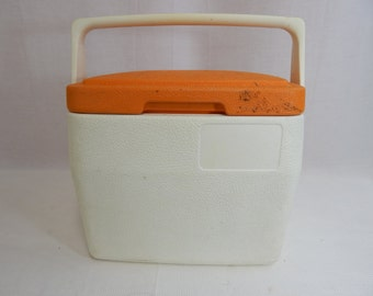 Vintage Lil Oscar Coleman Cooler Orange and White