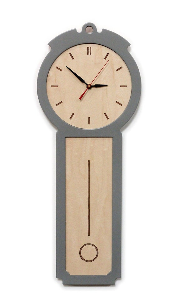Kitchen wall clock the colonial chic modern wood wall Modern clocks for kitchen