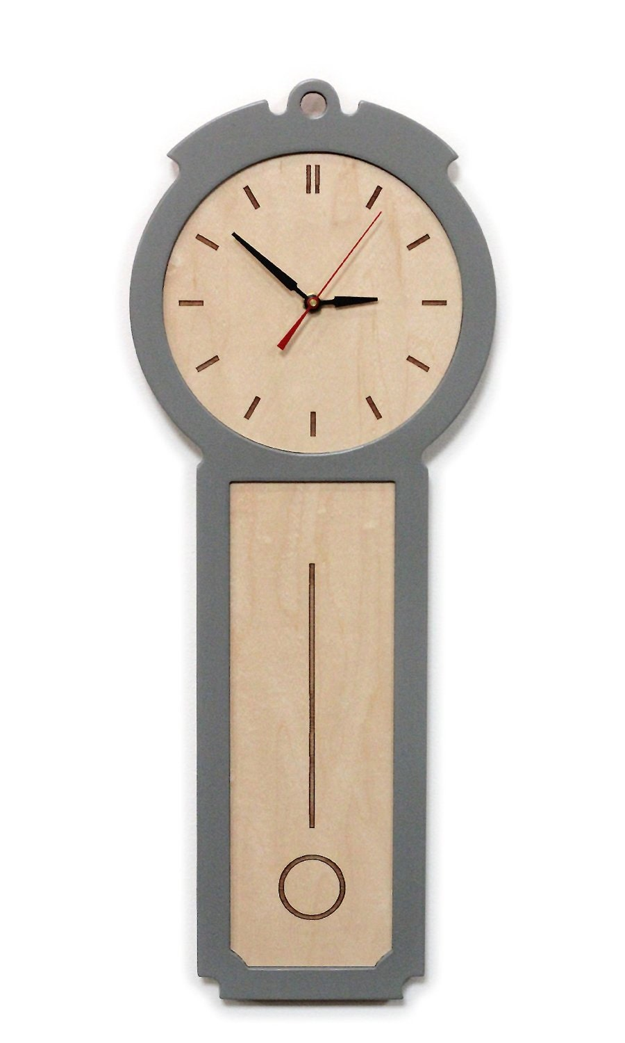 Kitchen wall clock the colonial chic modern wood by uncommon - Modern clocks for kitchen ...