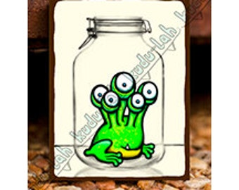 Hip Hop (Mason Jar Critter Art)