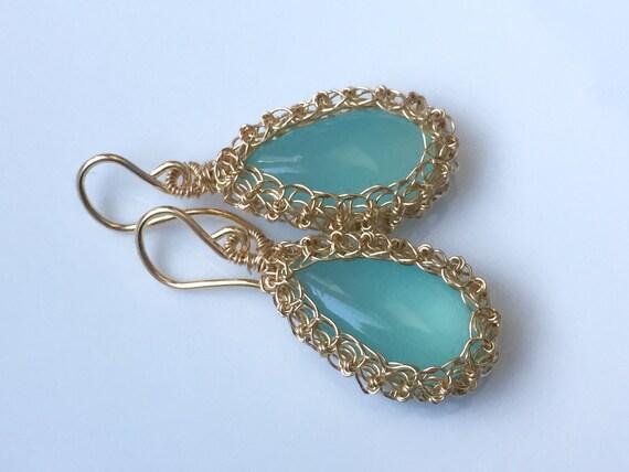 Chalcedony Nest Earrings