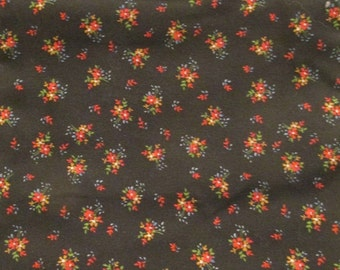 Vintage Fabric Cotton Cranston Print Works 1 1/4 yards x 44 inches wide