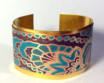 Cuff Bracelet, Mixed Metal Cuff