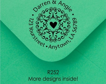 Personalized Custom Made Return Address Rubber Stamps R252