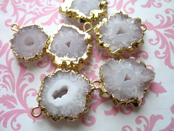 solar quartz charm pendant earring drops by fabulousrocks