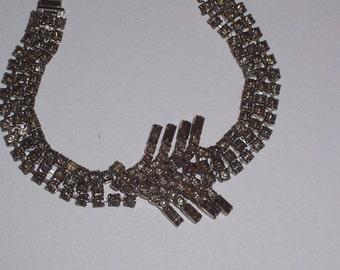 Vintage Gray Rhinestone Bracelet