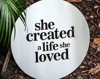 She created a life she loved stainless steel artwork