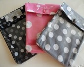 Ouch Pouch 3 Pack - Clear First Aid Travel Organizers Diaper Bag School Dorm Make Up Spring Break (Small 4x5) You Choose Fabrics